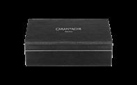 Silver-plated, rhodium-coated VARIUS CERAMIC BLACK fountain pen