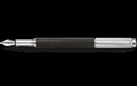 Silver-plated, rhodium-coated VARIUS IVANHOE BLACK fountain pen