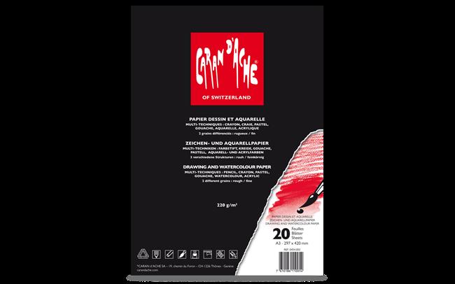 Standard-Zeichenblock, DIN-A3-Format, 20Blatt
