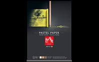 Bloc à dessin Pastel, papier teinté 3 couleurs, 24x32 cm, 12 feuilles