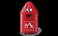Temperamatite doppio in plastica, Rosso