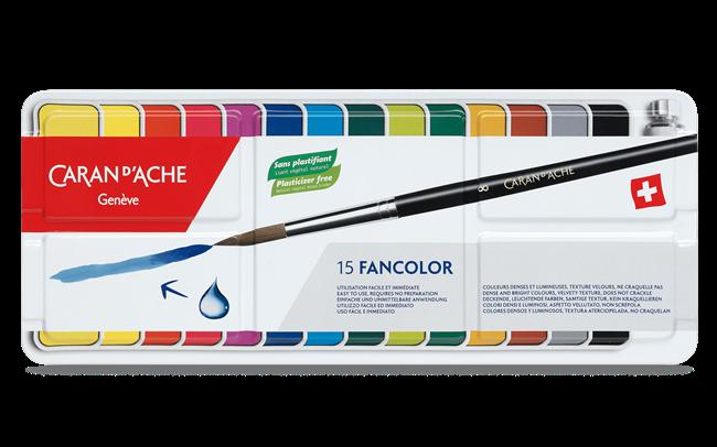 Scatola 15 Colori in Pastiglie GOUACHE FANCOLOR