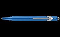 Stylo Bille 849 POPLINE Bleu Métallique avec Étui