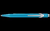 Stylo Bille 849 POPLINE Turquoise Métallique avec Étui