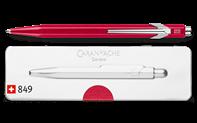Kugelschreiber 849 POPLINE metallic rot mit Etui