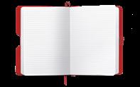Notizbuch OFFICE A5 STOFF.-ROT