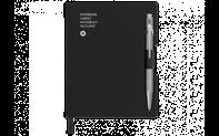 Ballpoint Pen 849 Grey & Notebook Office A6 Black