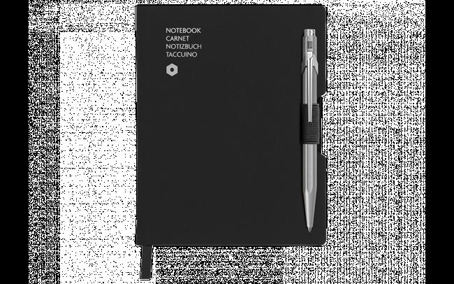 Kugelschreiber 849 Grau & Notizbuch Office A6 Schwarz