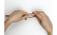 PASTELL-SPITZER, ROT –  BLISTER +  3 Ersatzklingen
