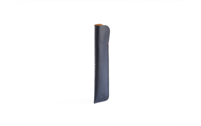 MIDNIGHT BLUE LEATHER CASE FOR 1 PEN