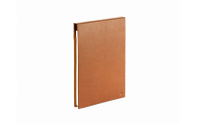 BEIGE LEATHER A5 NOTEBOOK