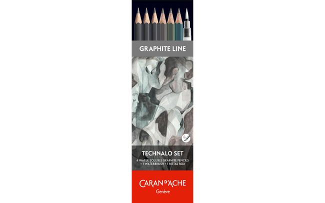 GRAPHITE LINE - 6 matite TECHNALO assortite (3B, B, HB)